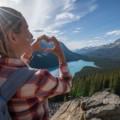 Woman enjoying vitamin d producing sunlight outdoors on a hike