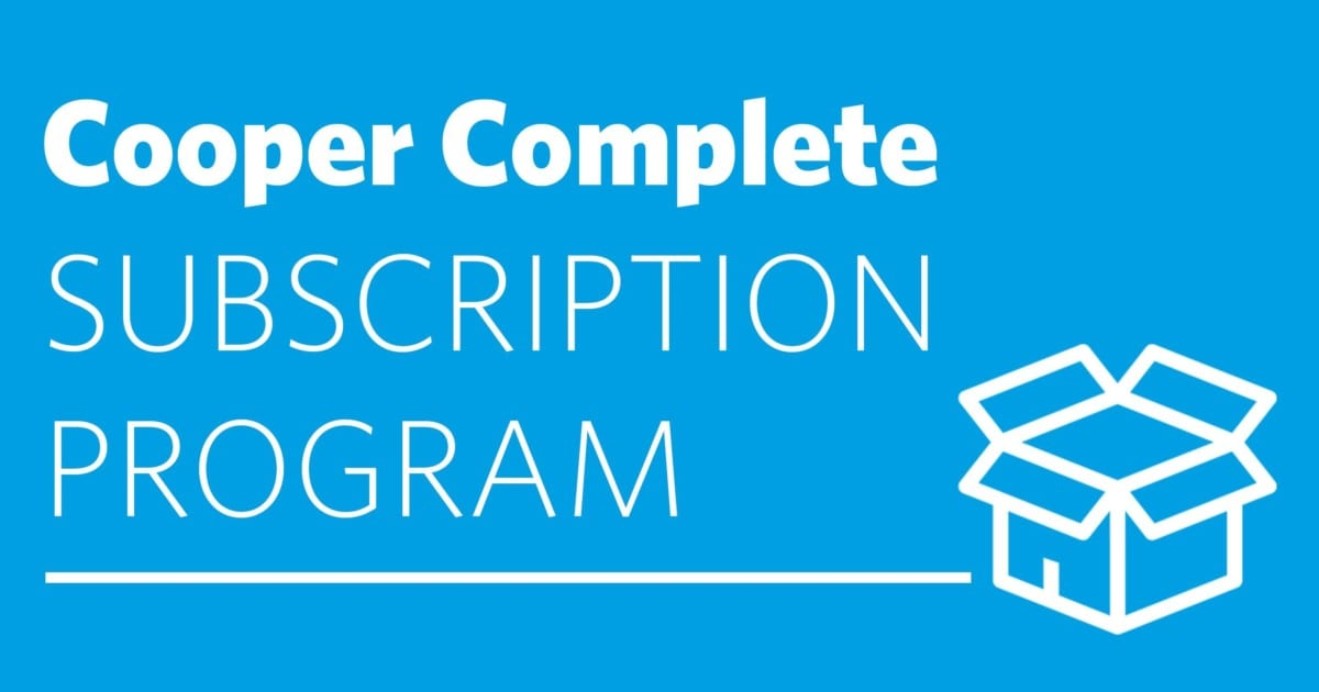 subscription program by cooper complete