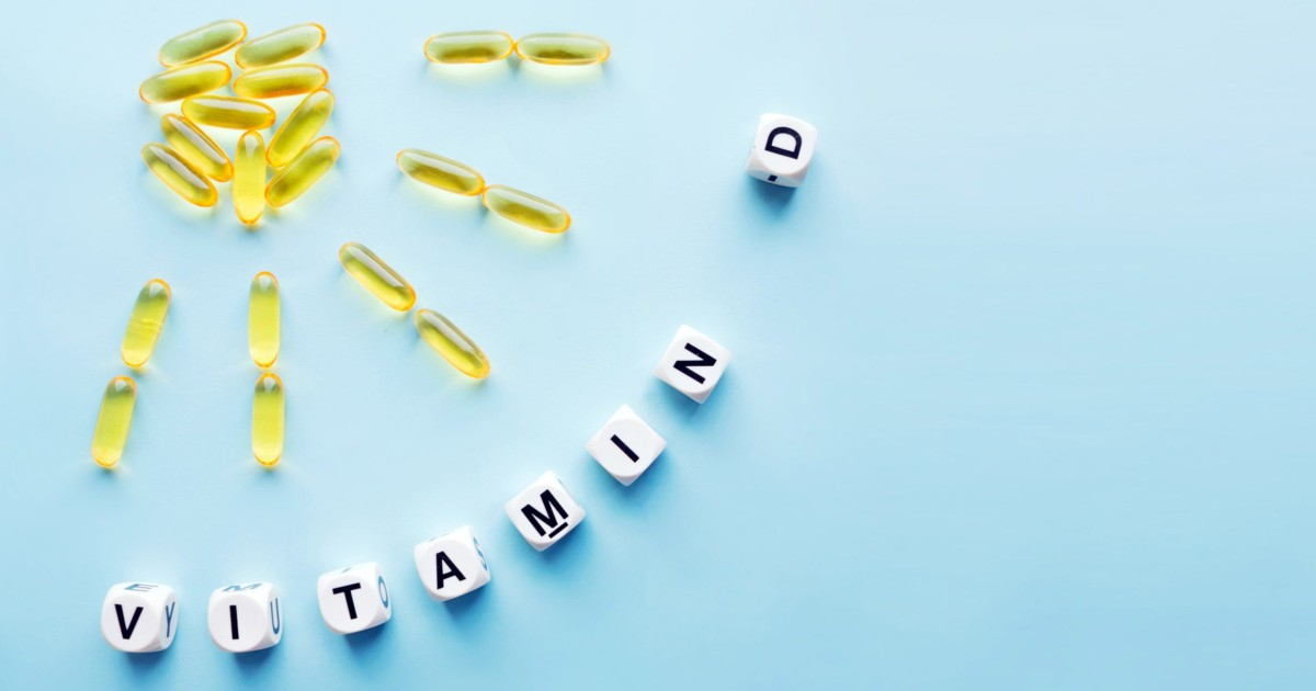 Vitamin D spelled out with tablets
