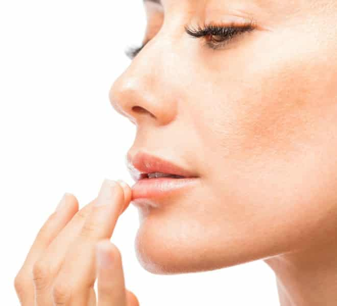 woman experiencing lysine benefits for her skin