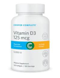Cooper Complete Vitamin D3 125 mcg or 5000 IU Bottle