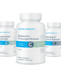 Cooper Complete Sleep bundle product bottles Prolonged and Quick Release Melatonin and Magnesium Glycinate